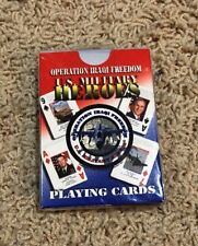 NIP Operation Iraqi Freedom U.S. Military Heroes Playing Cards