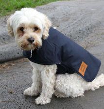 Waterproof Australian Oilskin Dog coat jacket 55cm - 80cm sherpa lining Navy NEW