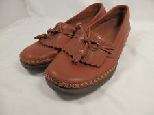 Women's Dexter Moccasins Size 6.5M Handcrafted Brown Leather Tassel Kiltie Shoe