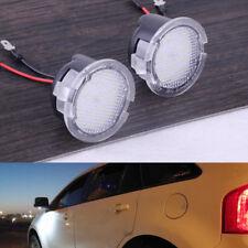 2x Weiß LED Außen Seitenspiegel Pfütze Leuchte FÜR Lincoln MKZ MKS MKX MKT LS