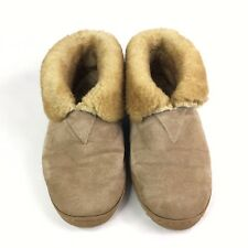 Old Friend Mens Pure Sheepskin Bootee Slippers Size 11 M