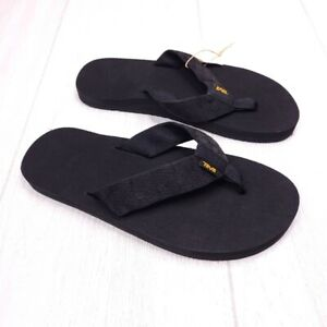 Teva Mush II Men's Black Flip Flop Thong Sandals 9 NWT