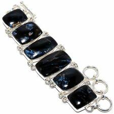 "Russian Pietersite Gemstone Handmade 925 Sterling Silver Bracelet 6-9"""