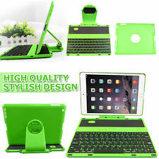 Wireless Bluetooth Keyboard Cover Case with Swivel Rotary Stand iPad 2 3 4 Green