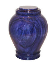 Embrace Blue Marble Adult Funeral Cremation Urn, 220 Cubic Inches