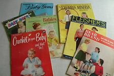 Baby Children Knitting Patterns Crochet Vintage Booklets Lot of 7