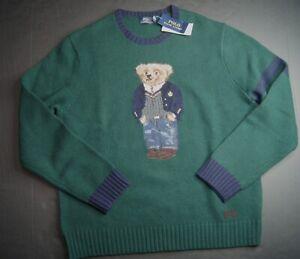 POLO RALPH LAUREN Men's Polo Bear Classic Fit Wool Blend Sweater NWT $398