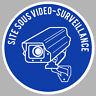 VIDEO SURVEILLANCE CAMERA PROTECTION 9cm AUTOCOLLANT STICKER (VA056)