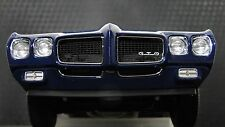Pontiac GTO Muscle Car 1 18 Hot Rod Race Dragster Drag Carousel Blue Model 24