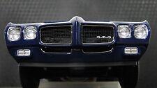 Pontiac GTO Muscle Car 1 18 Hot Rod Race Dragster Drag Carousel Blue Model 24