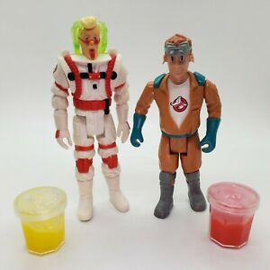 Vintage 1987 Real Ghostbusters Ray Stantz Fright Features and Super Fright Egon