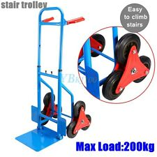 Hand Trolley 200Kg Sack Truck Hand Sack Barrow Trolley Stair Climber Cart US