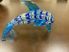 Fitz and Floyd Glass Menagerie Blue Dolphin Figurine Limited 43/136 New In Box