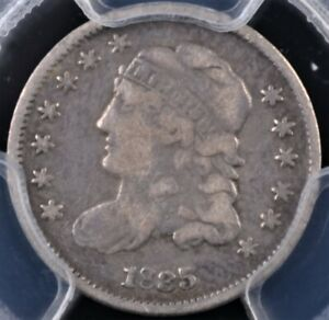 1835 CAPPED BUST HALF DIME LARGE DATE SMALL 5C PCGS F12 NICE ORIGINAL EXAMPLE