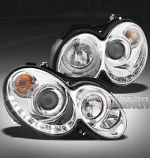 03-09 MERCEDES-BENZ W209 HALO DRL LED PROJECTOR HEADLIGHTS CLK320 CLK430 CLK500