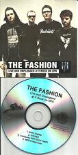 THE FASHION Live & Unplugged 4TRX w/ INTERVIEW PROMO DJ CD single 2008 MINT USA