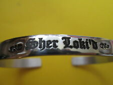 """ SHER Loki'd""… Old English font Bracelet..Avengers/Sherlock … Bracelet…"