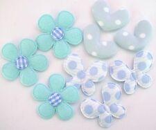 60 Padded Blue Felt Flower/Butterfly/Heart Fabric Applique/Embellishment H543