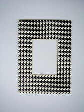Picture Frame Mat Houndstooth 5x7 for 2.5x3.5 photo ACEO mat for standard frame