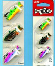Acme Phoebe 1/8 oz. 3.5g 3-pc Hydrodynamic Curved Fishing Lure Kit (#S3024)
