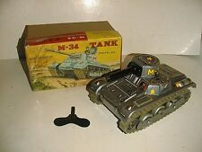 ARMY TANK M-34 WITH SPARKING GUN NEAR MINT IN BOX JAPAN WORKS GOOD