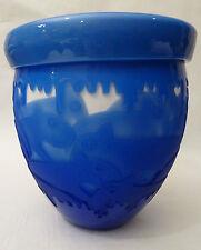 Pilgrim Cameo Glass Vase HONEY POT signed Kelsey Murphy Ceredo, West Virginia