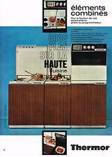 PUBLICITE  1971   THERMOR   éléménts combinés cuisine cuisinière four