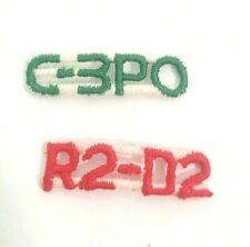 Vintage Set of 2 STAR WARS C-3PO & R2D2 Droids Letters  ORIGINAL IRON-ON Patches