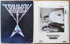 TRIUMPH ALLIED FORCES - Cartellina PROMO RCA con FOTO, Biografia e tariffe 1981*
