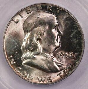 1958-P 1958 Franklin Half Dollar ICG MS65 Handsomely toned!