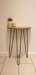 Table - Oak Whisky Barrel Console/ Side/ Hallway Table