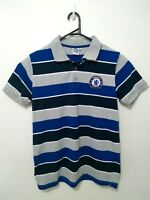 Chelsea FC Club Shirt Size S Authentic Short Sleeve Striped Football Polo Mens