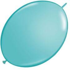 Globos de fiesta color principal azul ovalada