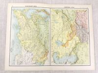 1898 Map Of North Central Asien Bartholomew Antik Viktorianisch 19th Jahrhundert