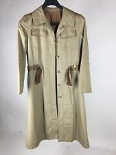 Cortefiel Trench Coat Belted Fully Lined Light Tan Women's Size 12