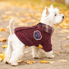 Small Dog Sweater Winter Warm Dog Puppy Jumper Clothes with Classical Design