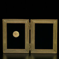 "2103DG Double Classico Gold 2.5"" x 3.5"" Picture Frame by Elias Artmetal - NEW"