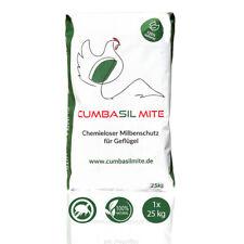 Cumbasil® Mite Staubbad für Hühner, Pulver gegen Milben, 100% natürlich, 1x25 kg