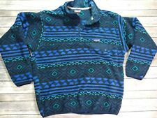 Patagonia Synchilla Pullover Sweater Men's Large Blue Pattern
