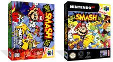 Super Smash Bros Nintendo 64 N64 Juego De Reemplazo Estuche caja + portada (sin Juego)