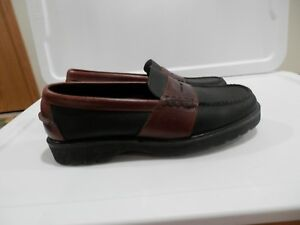 Cole Haan Blue and Brown Leather Loafers Memory Flex Size 8.5