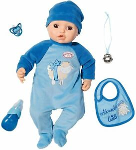 Zapf Creation Baby Annabell Alexander Deluxe 43cm Classic 43cm Doll Soft Body