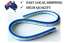 30cm 12'' Flexible Curves Ruler with Inking & Pencil Edge Drafting Drawing Tool