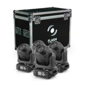 4x Flash LED Moving Head 90W Diamant + Boîtier