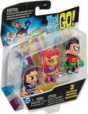 Teen Titans Go! Robin Blackfire Starfire Mini Figures - Brand New