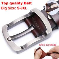"""Big &Tall Size 30""""-63"""" Designer Belts for Jeans 100% cow Leather Mens Belt Black"""