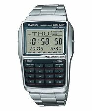 CASIO DBC-32D-1A Data Bank Vintage Series Calculator Telememo Bracelet Silver