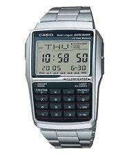 CASIO DBC-32D-1A Data Bank Vintage Series Calculator Telememo Bracelet Silver