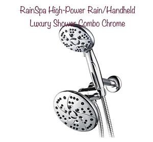 RainSpa High-Power Rain/Handheld Luxury Shower Combo Chrome