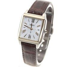 Seiko Lukia Solar wave women's watch SSVW100 Square sapphire genuine from JAPAN